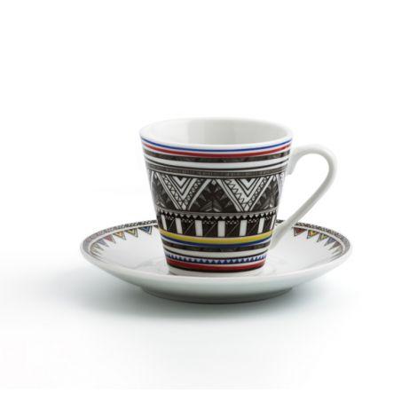 TAZA CAFE C/PLATO AZTECA SET6 QUID