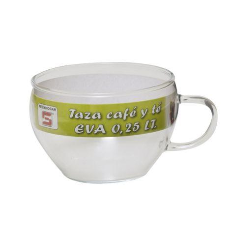 TAZA TE/CAFE CRISTAL EVA TECNHOGAR 25 CL