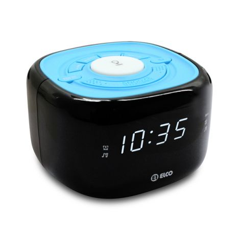 RADIO RELOJ DIGITAL USB C/LUZ ELCO