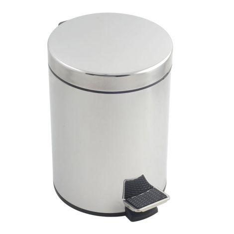 CUBO PEDAL INOX METALTEX 5 L