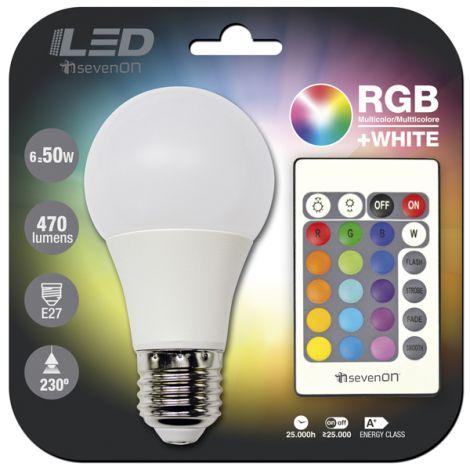 BOMBILLA LED C/MANDO RGB HIDALGO 6 W