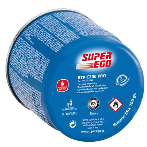 CARTUCHO GAS PERFORABL VALVULA SUPER EGO 190 G