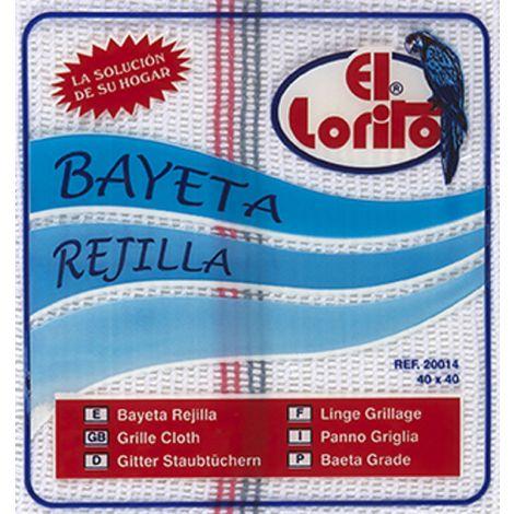 BAYETA REJILLA C.SURTIDOS B/I LORITO 40X45 CM