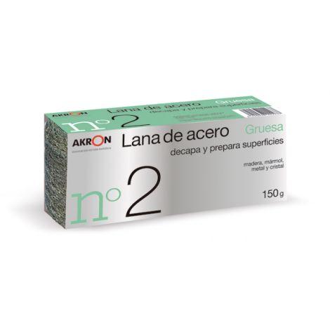 ESTROPAJO LANA ACERO GRUES N.2 BARLESA 150 G