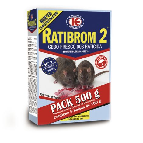 RATICIDA CEBO FRESCO PACK RATIBROM 500 G