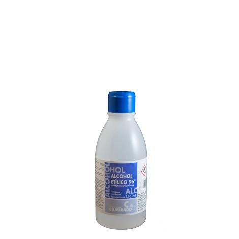 ALCOHOL ETILICO SANITARIO 96º CUADRADO 250 ML