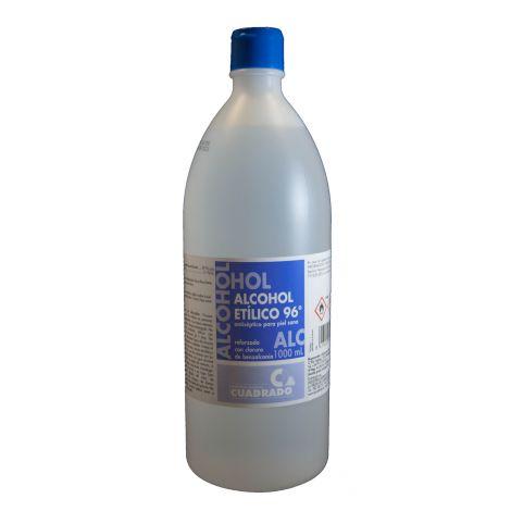 ALCOHOL ETILICO SANITARIO 96º CUADRADO 1 L