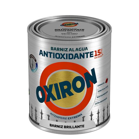 BARNIZ ANTIOX AL AGUA BRILLO OXIRON 750 ML