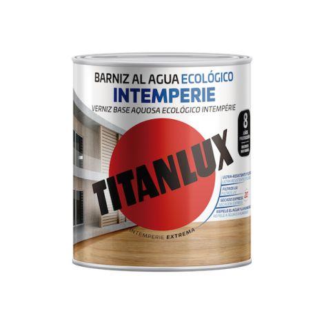 BARNIZ IMTEMPERIE AGUA BRILLO TITANLUX 750 ML