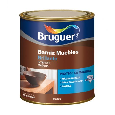 BARNIZ MUEBLES BR INCOLORO BRUGUER 250 ML