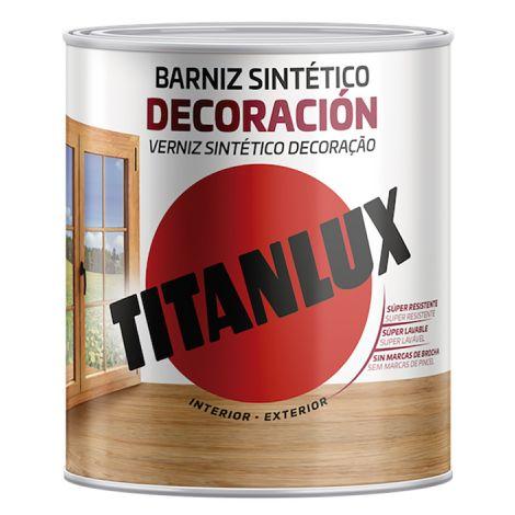 BARNIZ SATINADO INCOLORO TITANLUX 250 ML