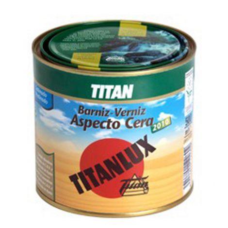 BARNIZ CERA SATINADO INCOLORO TITANLUX 2010 500 ML