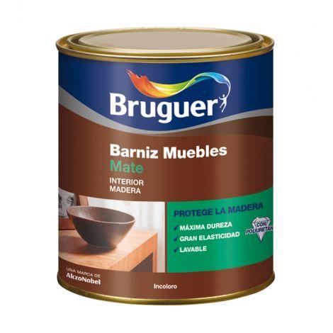 BARNIZ MUEBLES MATE INCOLORO BRUGUER 250 ML