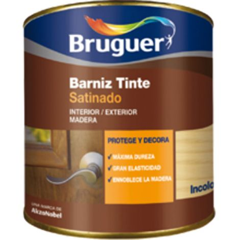 BARNIZ TINTE SAT ROBLE BRUGUER 250 ML