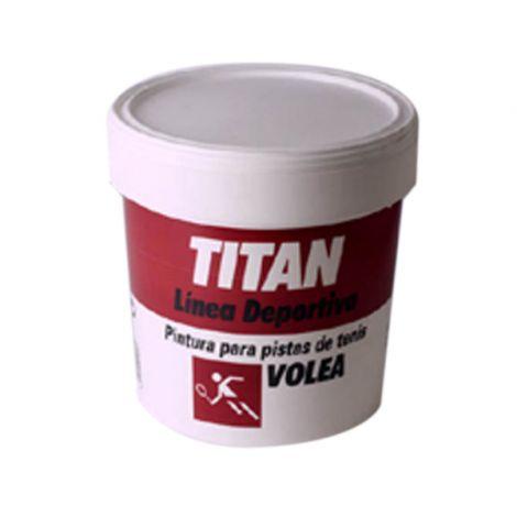 PINTURA TENIS VOLEA VERDE TITAN 4 L