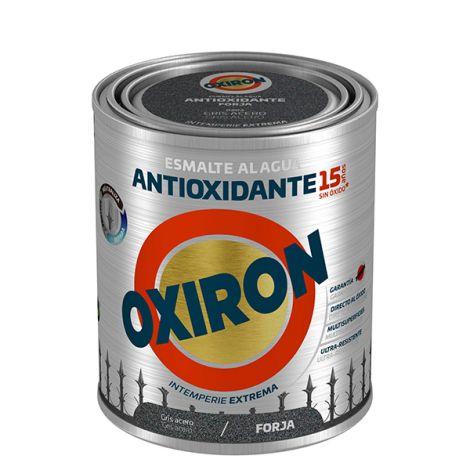 ESMALTE FORJA AGUA GRIS ACERO OXIRON 750 ML