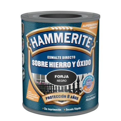 ESMALTE ANTIOXIDO FORJA GRIS HAMMERITE 2.5 L