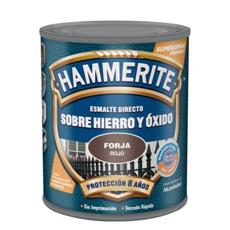 ESMALTE ANTIOXIDO FORJA NEGRO HAMMERITE 750 ML