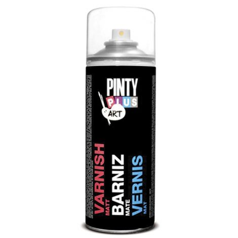 PINTURA SPRAY BARNIZ SATINA. PINTY PLUS 200 ML