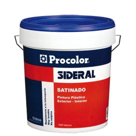 PINTURA PLASTICA SATINADA 505 SIDERAL 15 L