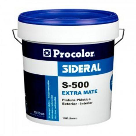 PINTURA PLASTICA SATINADA 505 SIDERAL 4 L